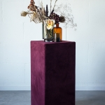 Veliūrinė kolona alyvinės spalvos, 40 x 80 cm