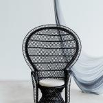 Muse krėslas (juodos ir natūralios spalvos)
