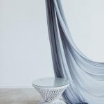 Pintas staliukas (baltos ir natūralios spalvos) - Ø 65 cm