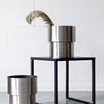 Sidabriniai cilindrai - ø 24cm, 26cm (H), 2 vnt