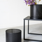 Juodos spalvos cilindrai - ø 25cm, H 26 cm