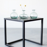 Melsvo stiklo vazeles - H 13cm