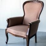 Nude spalvos fotelis