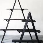 Trikampės lentynėlės - 150 / 110 cm (H), lentynėlių plotis 20 cm