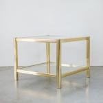 Auksinis Art Deco staliukas: 82 x 82 x 45 (H cm)