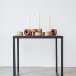 Medinės žvakidės bordo viršumi: ø 6,5cm, H 3cm