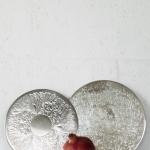Sidabriniai padėkliukai (ø19/24 cm), turimas kiekis - 6 vnt.