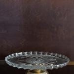 Raižyto stiklo tortinė, ø 30 cm, 7 cm (H)