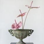 Sendinto metalo vaza, 30cm (H)