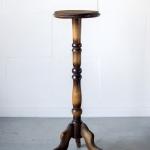 Medinis apvalus staliukas-2, ø 25 cm, 75 cm (H)