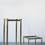 Žalvariniai staliukai, 32 x 32 x 32 cm / 32 x 32 x 70 cm