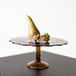Rudo stiklo tortinė - ø 23 cm, H 10cm