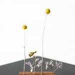 Mediniai rėmeliai / stoveliai 10 x 2 cm (H)