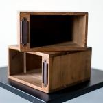Medinės dėžutės - 21 x 21 x 12 cm, 4 vnt