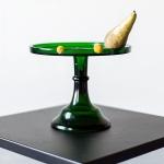 Žalio stiklo tortinė - ø 21 cm, H 18 cm