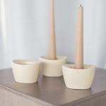 Kreminės žvakidės - 9 x 7 x 5 cm (H), 29 vnt