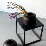 Rudai juodos vazos ø 26 cm, 20 cm (H), 4 vnt