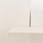 Balinto beržo minimalistinės kolonos: 40 x 82 cm (2 vnt), 34 x 61 cm (2 vnt), 40 x 40 cm (2 vnt)