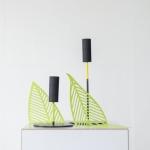 Laikikliai/žvakidės - spalvoti lapai: ø 12cm, H nuo 8 - 34 cm