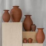 Terakotos vazos: H nuo 14 - 37 cm