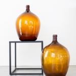 Rudo stiklo buteliai, 10 - 50 cm