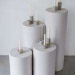 Betoninės žvakidės: ø5cm H6cm - 6vnt; ø7,5cm, H3,5cm - 8vnt; ø5cm,H10cm - 6vnt; ø7cm, H6,5cm - 1vnt